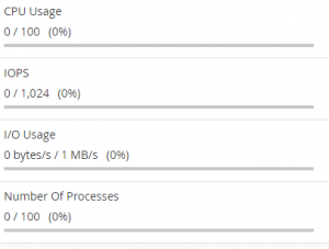 LVE limits from the cPanel interface